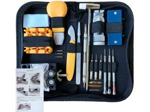 168 PCS Watch Repair Tool Kit, Case Opener Spring Bar Watch Band Link Tool Set With Carrying Bag, Replace Watch Battery Helper Multifunctional Tools With User Manual For Beginner