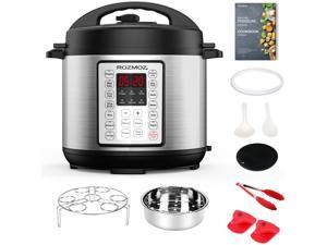14-in-1 Electric Pressure Cooker Instant Programmable Pressure Pot, 6 Quart, Stain-Resistant Slow Cooker, Steamer, Saute, Yogurt Maker, Egg Cook, Sterilizer, Warmer, Rice Cooker with 10 Deluxe Accesso