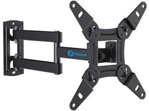 Full Motion TV Monitor Wall Mount Bracket Articulating Arms Swivels Tilts Extension Rotation for Most 13-42 Inch LED LCD Flat Curved Screen TVs & Monitors, Max VESA 200x200mm up to 44lbs