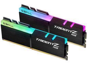 RGB Desktop Memory G.Skill Trident Z RGB Series 16GB (2 x 8GB) 288-Pin SDRAM PC4-28800 DDR4 3600 CL18-22-22-42 1.35V Dual Channel Desktop Memory Model F4-3600C18D-16GTZR