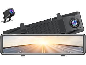 """DL12 2.5K Mirror Dash Cam Voice Control 12"""" Touch Screen Front and Rear Dual Dash Camera for Cars Enhanced Night Vision Backup Camera with Sony Starvis Sensor GPS G-Sensor Parking Assistance"""