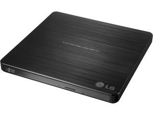 Electronics 8X USB 2.0 Super Multi Ultra Slim Portable DVD Rewriter External Drive with M-DISC Support for PC and Mac, Black (GP60NB50)