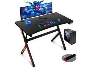 Gaming Desk,45 INCH R Shaped Gaming Table PC Computer Desk Home Office Desk for Men Women/Son (Black)
