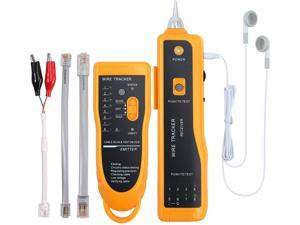Wire Tracker, Multifunctional RJ11 RJ45 Cable Tester Line Finder with NCV Probe for Wire Tracer Toner Ethernet LAN Network Cable Collation, Telephone Line Tester &Continuity Checking,  CT03