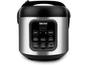 High Performance Pressure Cookers, Rice & Grain Cooker Slow Cook, Steam, Oatmeal, Risotto, 8-cup cooked/4-cup uncooked/2Qt, Stainless Steel