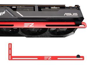 GPU Bracket ,Graphics Card Brace Support,Video Card Holder,GPU Holder for Custom Desktop PC Gaming-3mm Aluminum-Red