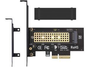 M.2 NVME to PCIe 3.0 x4 Adapter with Aluminum Heatsink Solution