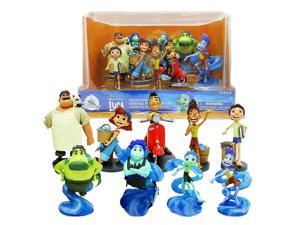 Disney Store Pixar Luca Giulia Sea Monster Deluxe Figurine Luca Movie Model Anime Action Figure Doll With Gift Box