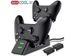 Xbox one Controller Charger Battery Packs, Controller Charging Station Compatible with Xbox One/One S/One X/One Elite, Charger for Xbox One Controller Battery Pack with 2 x 1200mAh Battery Packs