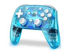 BEBONCOOL Wireless Switch Controller for Switch/Switch Lite, Replace for nintendo switch pro controller, Switch Remote Gamepads with LED Backlight, Turbo, Vibration, Motion Functions
