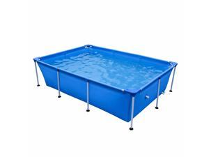 JLeisure 17818 Above Ground Rectangular Steel Frame Swimming Pool, 8.5 x 6 Ft