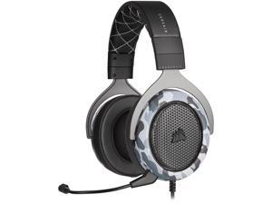 CORSAIR - HS60 HAPTIC Stereo Gaming Headset with Haptic Bass - Black and Whit...