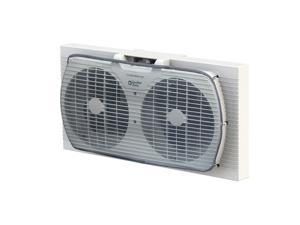 Comfort Zone 9 inch Portable Twin Window Fan with Reversible Airflow Control