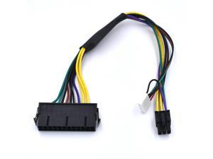 5pcs/lot ATX 24 Pin to Motherboard 2 Port 6 Pin for HP Z220 Z230 Z240 SFF Power Supply Cable