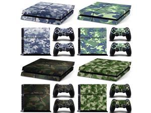 for PS4 Camo Console Skin Decal Sticker Vinyl Decal Skin Wrap compatible with Sony PlayStation 4 Slim Console Camouflage