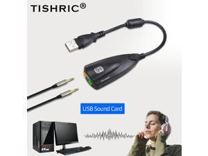 5HV2 USB External Sound Card 7.1 with 3.5mm USB Audio Adapter Headset Microphone Sound Card For Laptop PC Professional
