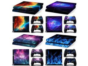 for ps4 Galaxy Blue Galactic Game Vinyl Decal Protective Cover Sticker for Sony Playstation 4 PS4 Console and 2 Controllers Skin