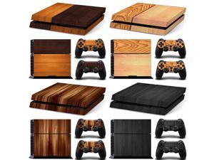 FOR ps4 decal   Arrival wood designs PS4 Skin Sticker For Sony PlayStation 4 Console Controller PS4 Stickers Decal