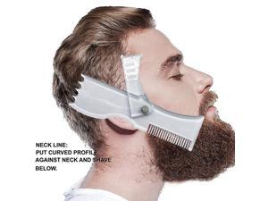 Beard Styling Template Stencil Hair Beard Comb for Men Lightweight and Flexible Fits All-In-One Beard Shaping Tool