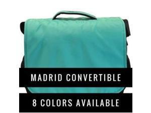 Obersee Madrid Diaper Messenger Bag | Convertible Backpack | Viola