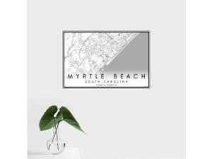 Myrtle Beach - South Carolina Classic Map Print