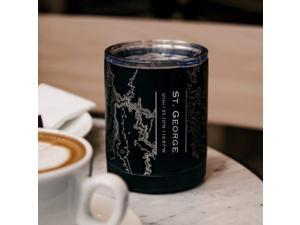 St. George - Utah Map Insulated Cup in Matte Black