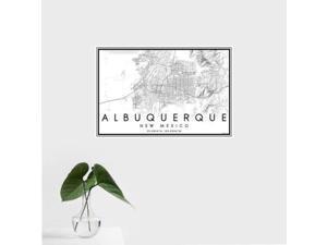 Albuquerque - New Mexico Classic Map Print