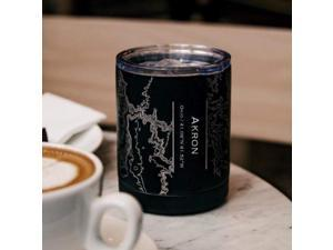 Akron - Ohio Map Insulated Cup in Matte Black