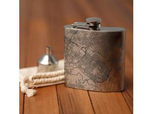 Albany - New York Map Hip Flask