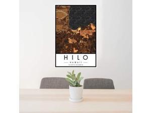 Hilo - Hawaii Map Print in Ember