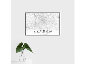 Durham - North Carolina Classic Map Print