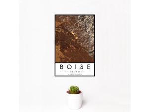 Boise - Idaho Map Print in Ember