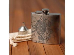Abilene - Texas Map Hip Flask