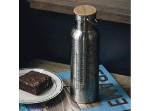 Clarksville - Tennessee Map Bottle with Bamboo Top
