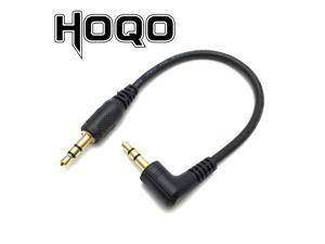 Ultra short 3.5mm Aux Cable 15cm Male to Male Gold Plated 90 Degree Angle Audio Cable for MP3 Car phone Speaker