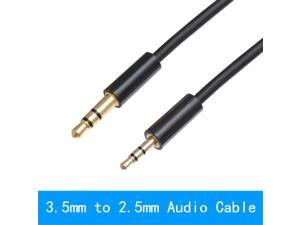 2.5mm to 3.5mm Audio Cable Jack 3.5 to 2.5 Male Aux Cable For Car SmartPhone Speaker Headphone Moible Phone 1M
