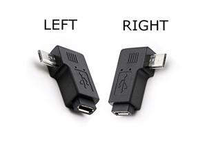 90 Degree Right Angle Micro USB Female to Micro USB Male Adapter Connector L Shaped Micro USB Male to Female Converter