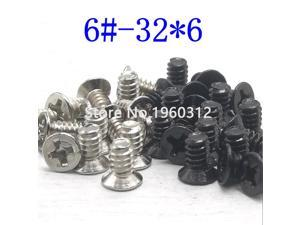 50pcs/Lot 6-32*6 countersunk head Screw 6-32 Thread For Computer Hard Disk Drive HDD Screw