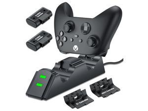 Wireless Controller Charger Dual Handle Fast Charging Dock Station With Rechargeable Battery Packs For Xbox One/One S/One X One Elite/Xbox Series X|S, 2X 1200mAh Battery Pack for Xbox One Controller