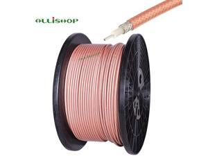 1 Meter RG400 Cable Low Loss 50 Ohm RF Cable RG400 M17/128 Double Copper Braid Shielded Coax Coaxial Cable