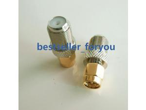 10x F Type Jack Female to SMA Male Plug Straight RF Adapter Connector adaptor
