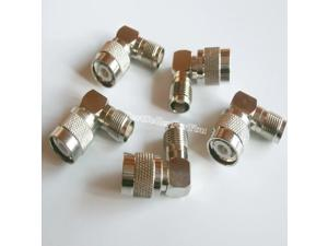 TNC Male Plug To TNC Female Right Angle 90 Degree Coaxial RF Adapter Connector