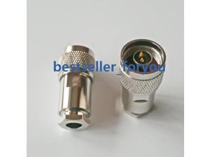 1x Male Plug Clamp RG5 RG6 5D-FB LMR300 Cable RF Straight Connector