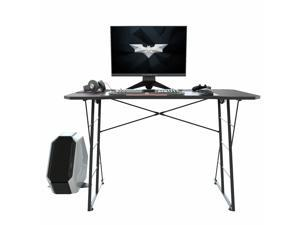 48 Inch Gaming Desk PC Computer Desk Home Office Table with Cup Holder Home Office Computer Desk Workstation Black