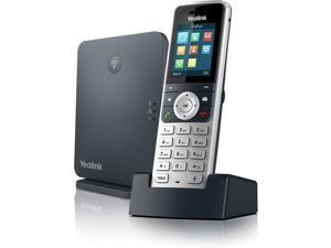 Yealink IP Phone - Cordless - Corded - DECT - Wall Mountable, Desktop - Alabaster Silver, Classic Gray W53P