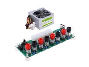 ATX Benchtop Computer Power Supply Electric Circuit 24Pins Breakout Board Module DC Plug Connector USB 5V Port