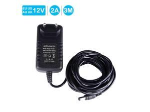 AC DC Adapter 12V2A Switching Power Supply Adapter For 90V-264V AC 50/60Hz With DC Connector 3M length