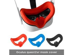 1PCS Silicone Eye Mask Cover Pad For Oculus Quest2 Breathable Anti-sweat Light Blocking Gaming VR Glasses Eye Cover For Oculus Quest2  ( random color )