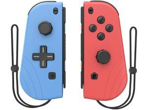 2021 New 1 Pair Switch Controllers, Replacement for Joycon Controllers with Grip Dual Shock Wake-Up Plug and Play, (L/R) Controller Compatible for Nintendo Switch/Switch lite (Blue and Red)