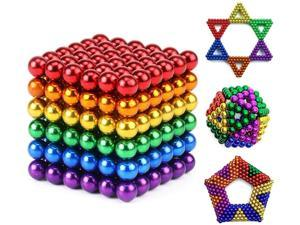 222Pcs New 5mm Dia Nickel Rainbow Polishing Ferrite Ball Magnetic Permanent Buck